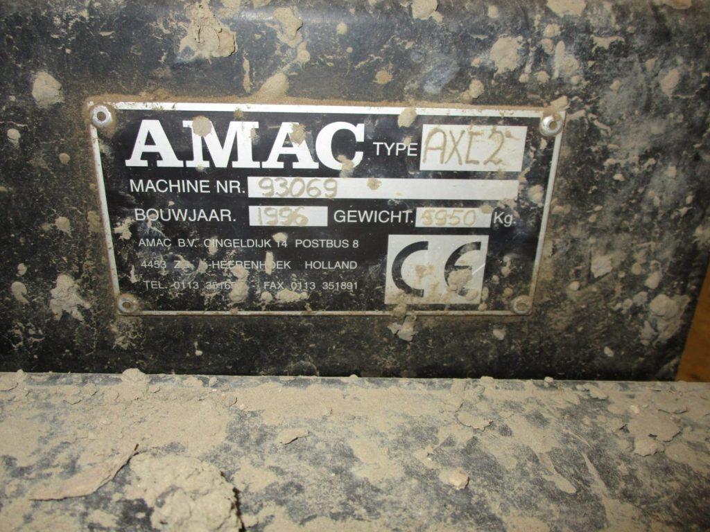Amac AXL2 typeplaatje